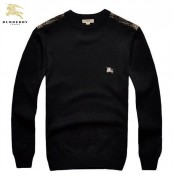 Burberry La Col Rond Manches Longue Pull Homme Noir Pullover Online Store