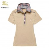 Burberry Manches Courte Polo Beige T Shirt Femme Uni Boutique Paris