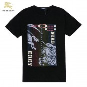 Burberry Manches Courte Serigraphie Noir T Shirt Homme Col Rond Official Website