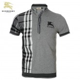 Burberry T Shirt Homme Col Montant Manches Courte Trench Occasion
