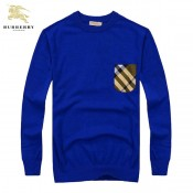 Burberry Pull Homme Pullover Col Rond Manches Longue Bleu Online