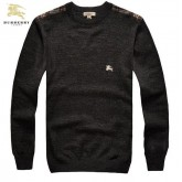 Burberry Pullover Col Rond Gris Pull Homme Manches Longue Galeries Lafayette