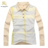 Burberry T Shirt Femme Beige Polo Manches Longue Rayures Outlet Londres