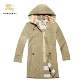 Burberry Jaune Capuche Manches Longues Uni Zippe Veste Homme Manteau Magasin Paris