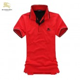 Burberry Uni Polo Rouge Manches Courte T Shirt Homme Online Shop