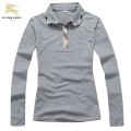 Burberry Uni Polo T Shirt Femme Gris Manches Longue Outlet Paris