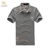 Burberry Polo Manches Courte Gris T Shirt Homme Uni Outlet Paris