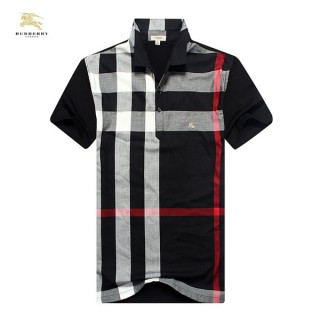 Burberry Polo T Shirt Homme Noir Manches Courte Trench Soldes