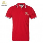 Burberry Uni Manches Courte T Shirt Homme Rouge Polo Portefeuille