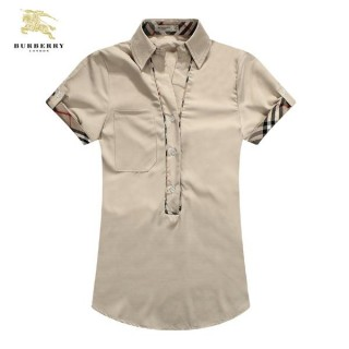 Burberry 2017 Manches Courte Beige Chemise Femme Uni Impermeable