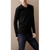 Burberry 2022 La Noir Col Rond Manches Longue Pullover Pull Homme Trench Soldes