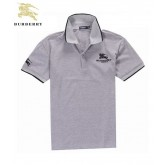 Burberry 2033 Gris Manches Courte T Shirt Homme Polo Logo France