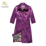 Burberry 2037 Manteau Pourpre Boutons Polo Manches Longues Veste Femme Uni Official Website