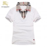 Burberry Manches Courte Polo Blanc Uni T Shirt Femme Magasin Paris