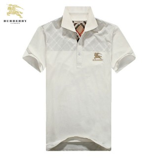 Burberry Manches Courte T Shirt Homme Blanc Polo Magasin Lyon