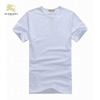 Burberry Uni Manches Courte Blanc T Shirt Homme Col Rond Online Store