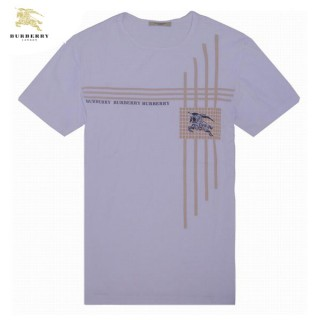Burberrys Col Rond Blanc Manches Courte T Shirt Homme Factory Outlet